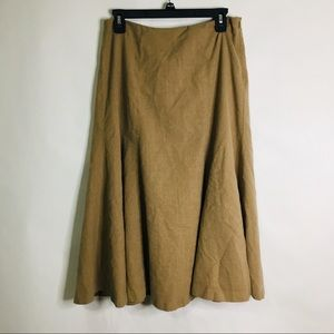 Lauren Ralph Lauren wool blend midi skirt